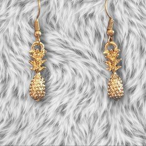 Sterling forever 14k Pineapple dangles